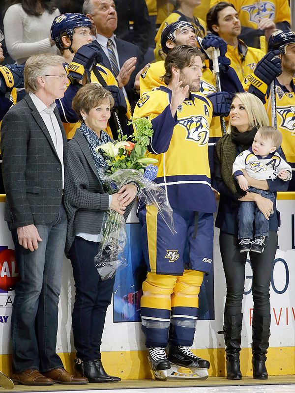Carrie Underwood, Mike Fisher and Son