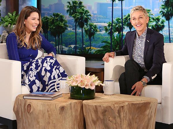 Jessica Biel Denies Pregnancy Rumors Ellen DeGeneres