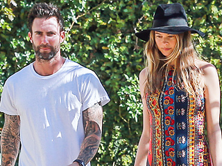 Baby on Board: Behati Prinsloo Shows Off Her Growing Bump While Out with Adam Levine