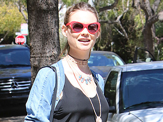 Smiling Mom-to-Be Behati Prinsloo Shows Off Barely-There Baby Bump Out in Beverly Hills