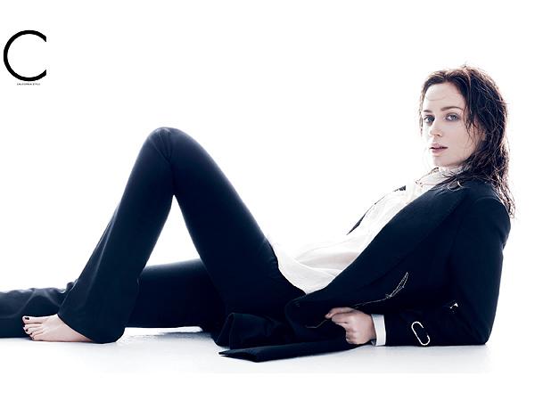 Emily Blunt pregnant C magazine