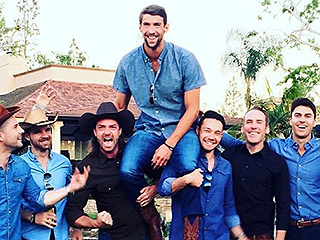 Lassoing Baby P! Michael Phelps and Fiancée Celebrate with Cowboy-Themed Shower