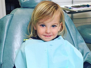 Olivia Wilde's Son Otis Is All Smiles at the Dentist: 'Guess They Gave Him the Good Drugs'