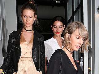 Bump, There It Is! Pregnant Behati Prinsloo Steps Out for Dinner Date with Lily Aldridge and Taylor Swift