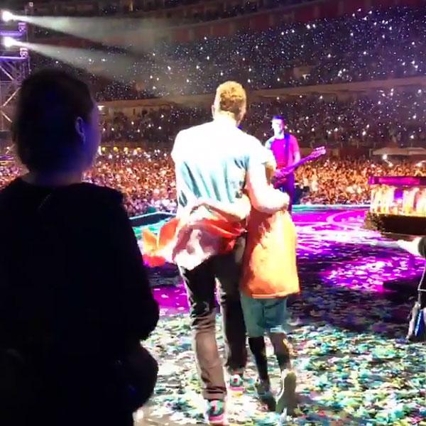 Chris Martin son Moses birthday concert