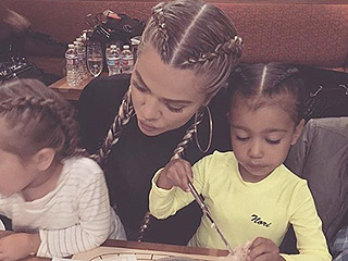 Khloé Kardashian, North West and Penelope Disick Are Style Triplets in the Kardashians' Signature Braids