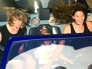 Taylor Swift and Lily Aldridge Hit the Rides at Disneyland – but This Straight-Faced Guy Is the Real Attraction