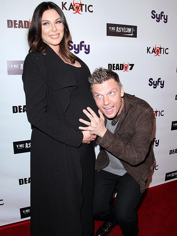 Nick Carter and pregnant wife Lauren Kitt Carter