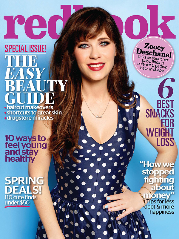 Zooey Deschanel Redbook magazine