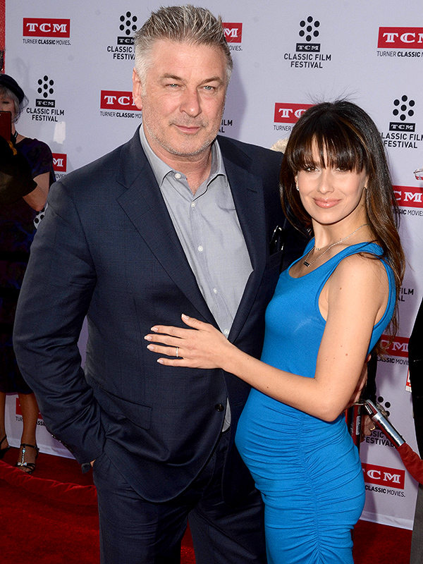 Alec Baldwin Hilaria pregnant All the President's Men premiere