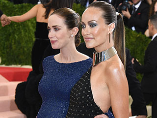 Bump Buddies! Olivia Wilde and Emily Blunt Show Off Their Baby Bellies at the Met Gala