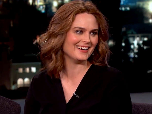 Emily Deschanel Jimmy Kimmel