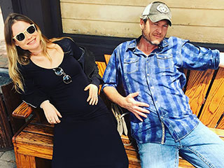 Battle of the Bumps! Behati Prinsloo Compares Baby Bellies with Blake Shelton