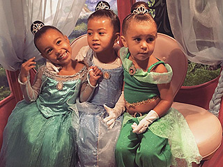 North West and Penelope Disick Get 'Princess Makeovers' for Magical Trip to Disneyland