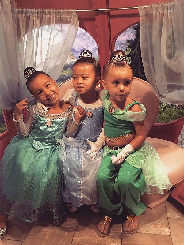 North West, Penelope Disick and Ryan Romulus