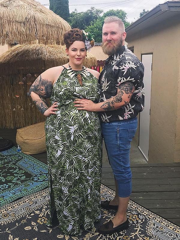 Tess Holliday Hawaiian baby shower