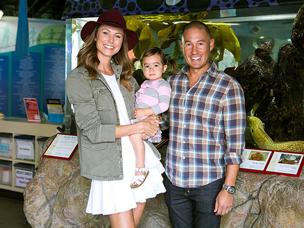 Stacy Keibler with her husband Jared Pobre and daughter Ava