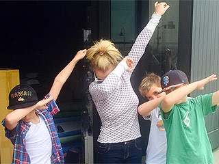 Britney Spears Does the Dab with Sons Sean and Jayden