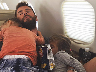 Elsa Pataky Shares Sweet Photo of Chris Hemsworth Napping with Their Kids: 'Nothing Better than Sleeping in Papa's Arms!'