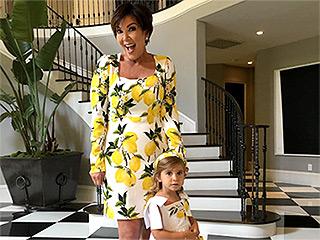 Citrus Chic: Kris Jenner and Granddaughter Penelope Show Off Matching Lemon-Print Dresses