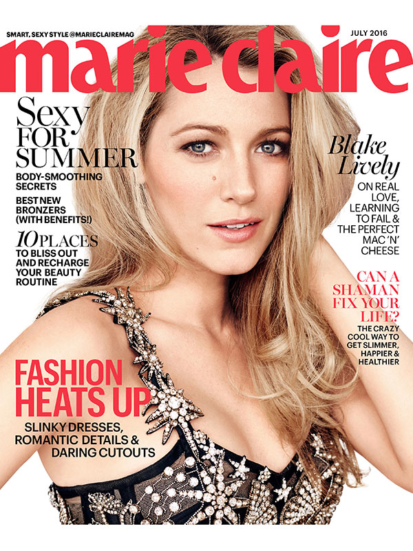 Blake Lively Marie Claire July 2016 Cover