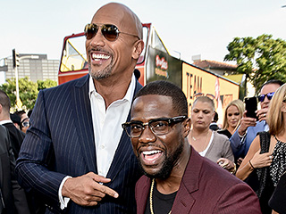 Kevin Hart Inspired Dwayne Johnson to FaceTime with His Family from the Set