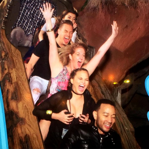 Chrissy Teigen at Disneyland