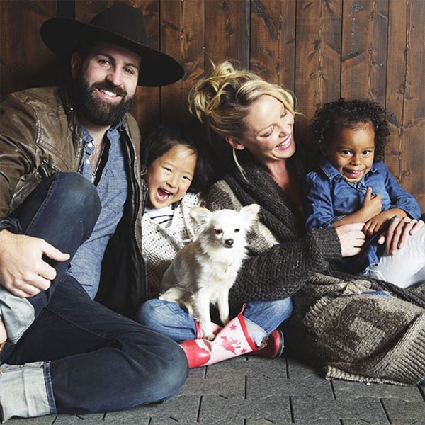 Katherine Heigl and Josh Kelley with their daughter