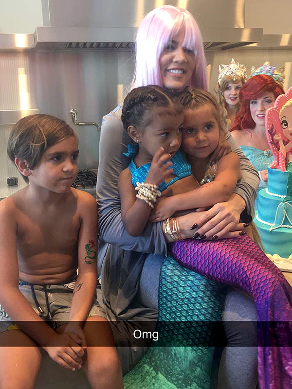 North West And Penelope Disick Have Mermaid Themed