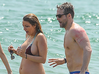 Beach Babe! Blake Lively Shows Off Growing Baby Belly in Itty-Bitty Bikini