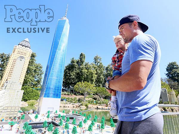 Josh Duhamel son Axl Legoland