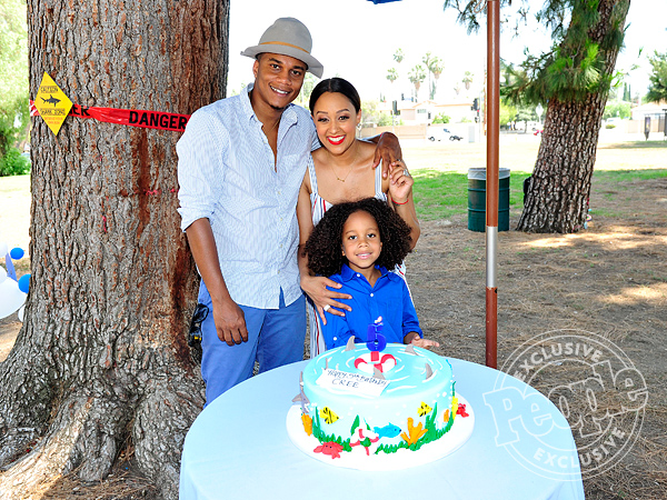 Tia Mowry son Cree shark birthday party