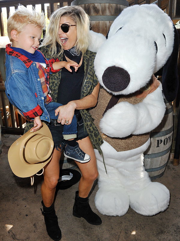 Fergie son Axl Knotts Berry Farm