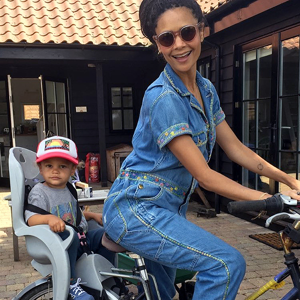 Thandie Newton Son Bike
