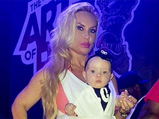 Coco Austin Is a 'Babywearing Mommy' with Daughter Chanel at Husband Ice T's Concert