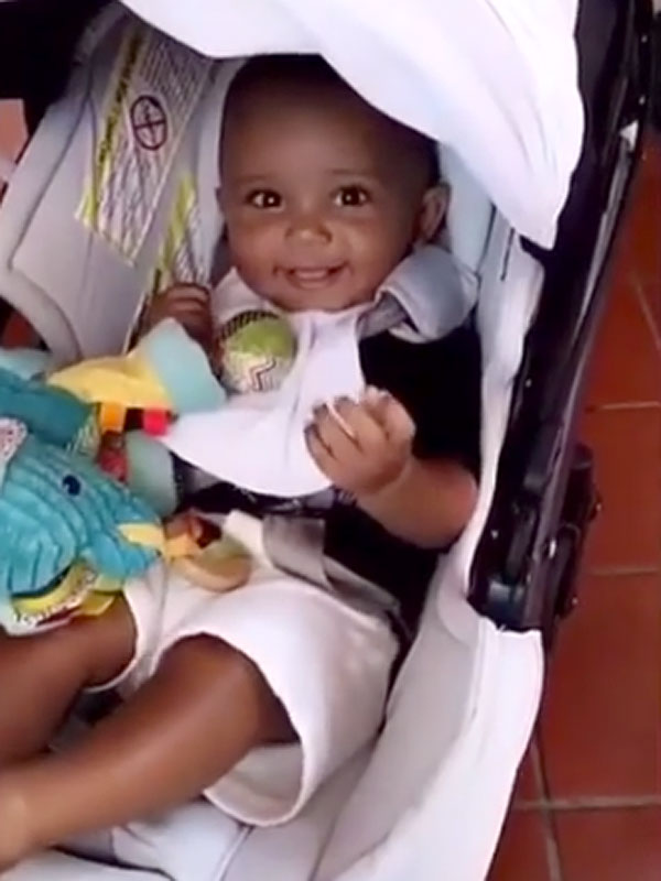 Happy baby kim kardashian west shares adorable new video of giggly
