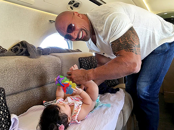 The Rock Diaper Change Instagram