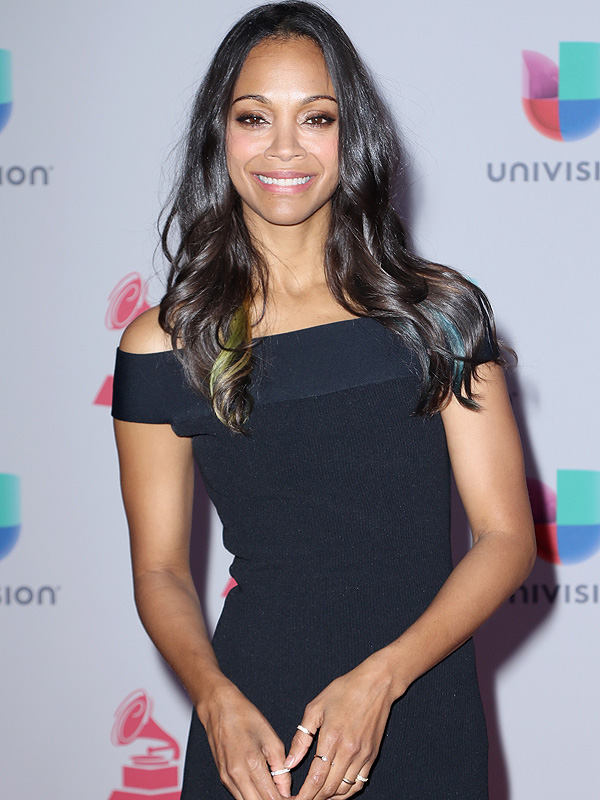 Zoe Saldana Star Trek Filming with Twin Sons