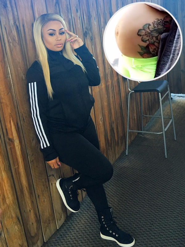 Blac Chyna Baby Bump on Fleek
