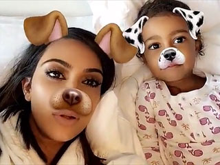 Little Animals! Kim Kardashian West Posts Adorable Snapchat Clips of North and Saint