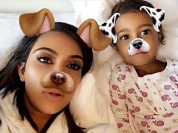 Kim Kardashian West North Snapchat Main