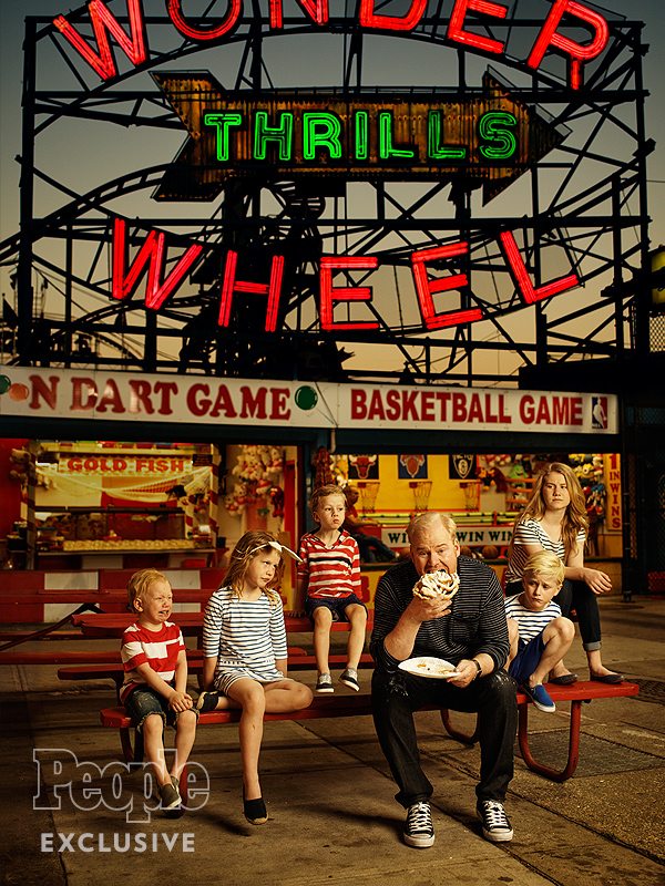 Jim Gaffigan and his kids