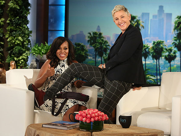 Kerry Washington on Ellen Pregnant - Secondary
