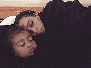 Nap Time! Kim Kardashian West Snuggles with Daughter North in Sweet Throwback Pic