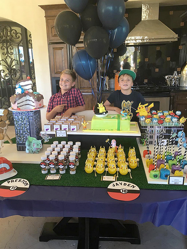 Britney Spears sons Pokemon party