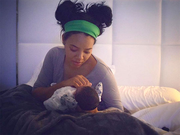 Angela Simmons welcomes son
