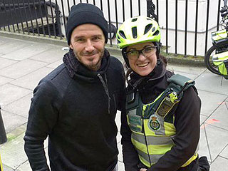 Sexy and Sweet! David Beckham Buys Hot Drinks for London Paramedic and Her Patient