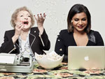 EXCLUSIVE PHOTOS! Mindy Kaling and Betty White Crack Dirty Jokes and Blaze Comedy Trails