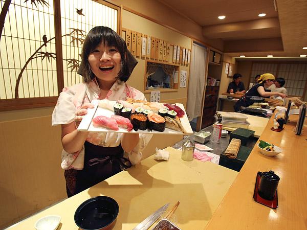 Female Sushi Restaurant Japan