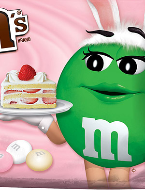 M&Ms White Strawberry Shortcake